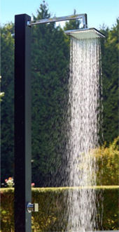 Douche de jardin WALLY GRAPHITE