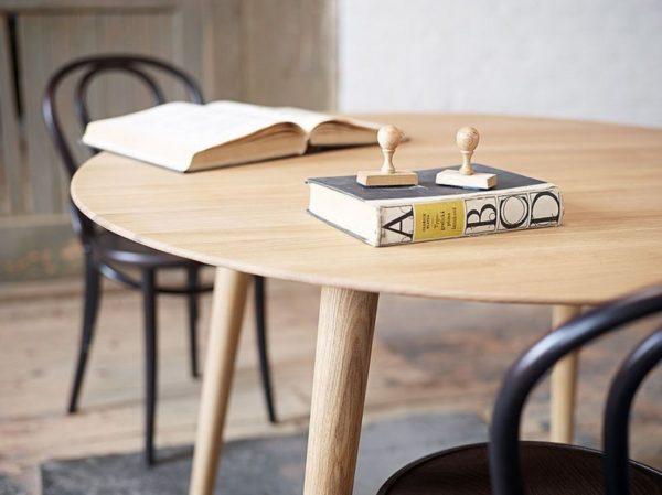 Table Design Ronde En Hetre Malmo Scandinave De Ton