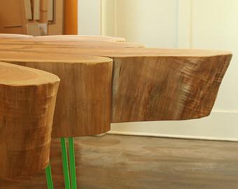 Table sur mesure en bois massif